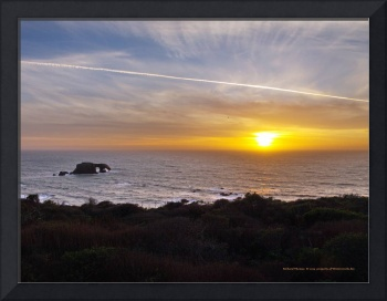 Sunset at Goat Rock State Beach