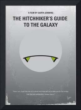 No035 My Hitchhiker Guide minimal movie poster