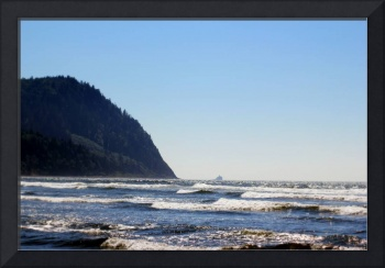 Tillamook Rock Lighthouse seen from Seaside beach