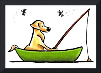 Yellow Lab Fishing