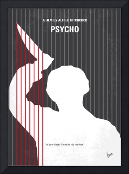 No185 My Psycho minimal movie poster