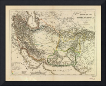 Map of Persia circa 1847 (Afghanistan, Pakistan, I