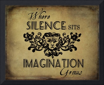 Where Silence Sits - Typography Image