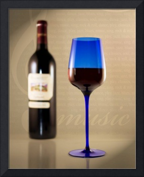 Wine and Blue Glass