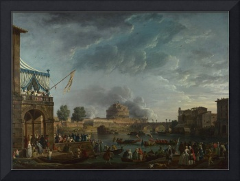 Claude-Joseph Vernet - A Sporting Contest on the T