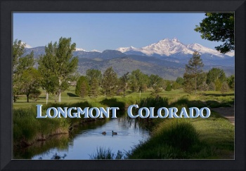 Longmont Colorado Twin Peaks View Poster