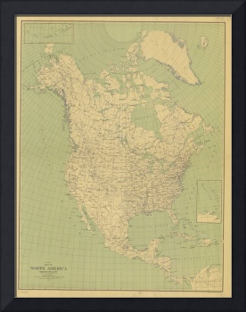 Vintage Map of North America (1912)