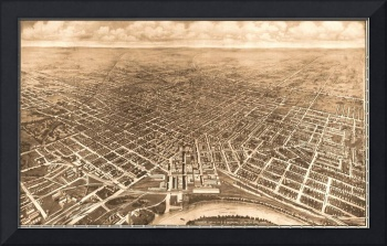 Vintage Pictorial Map of Montgomery Alabama (1912)