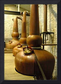Copper Stills in Bourbon Whiskey Distillery 8663