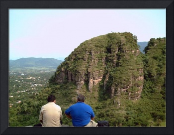 Mountain View with Two Men in Front