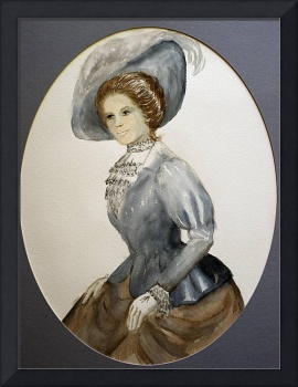 Old Fashioned Woman with Hat