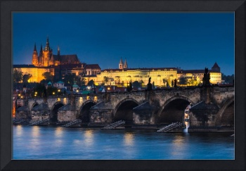 Charles Bridge and Castle, in Prague