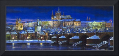 Prague Winter Panorama