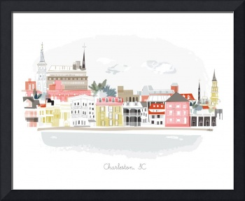 Charleston Modern Cityscape Illustration