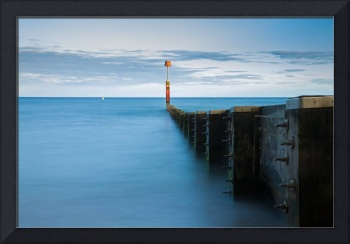 Bournemouth groyne at Sundown