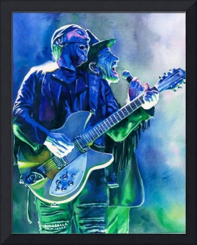 Blue Green Bono and Edge