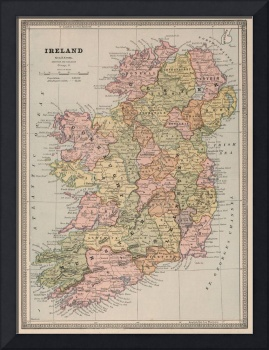 Vintage Map of Ireland (1883)