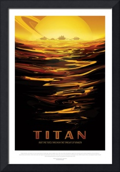Nasa Travel Poster Titan