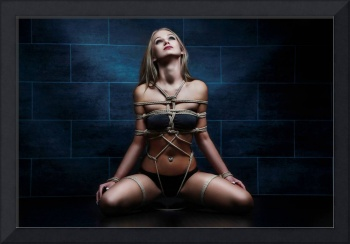 Tied in rope harness - Fine Art of Bondage