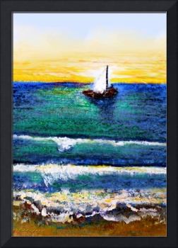 Tropical Sunrise Sailing Seascape C3