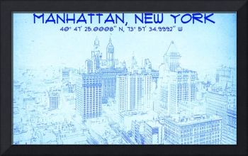 Manhattan, New York 1912 BluePrint GPS 1