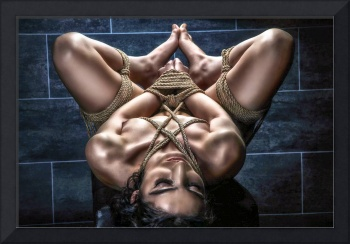 Hard tied nude - Fine Art of Bondage
