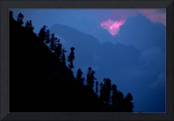 Silhouette of the Himalayas