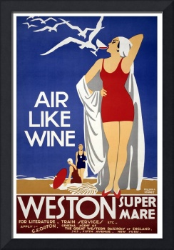 Air Like Wine Weston Super Mare Travel Poster