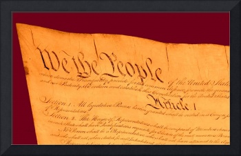 US Constitution Closest Closeup Violet Red Backgro