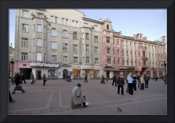 Moscow street Arbat. Moscow, Russia