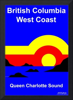 Queen Charlotte Sound - Text Poster
