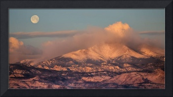 Colorado Rocky Mountain Full Moon Set Panorama