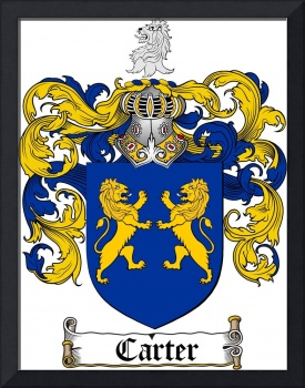 CARTER FAMILY CREST -  CARTER COAT OF ARMS