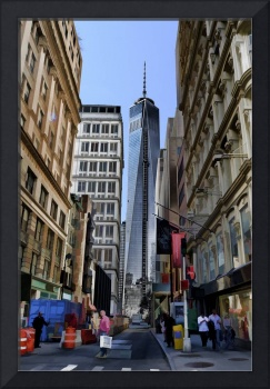 One World Trade Center and Fulton Street in NYC