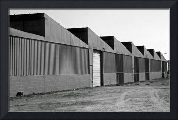 Factory Buildings in Black and White