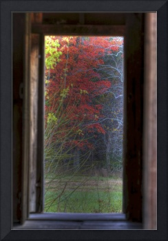 Cabin Doorway to Autumn Cades Cove