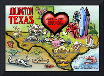 Arlington TEXAS Map