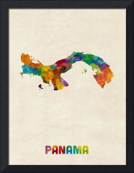 Panama Watercolor Map