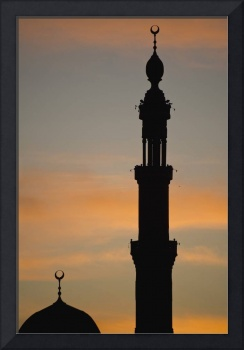 Silhouette Of Mosque At Dawn Egypt