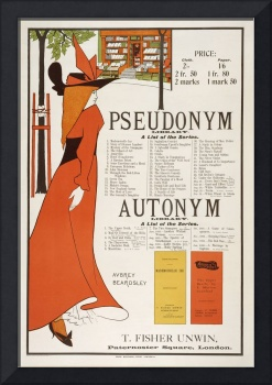 Poster for 'The Pseudonym and Autonym Libraries'