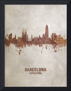 Barcelona Spain Rust Skyline