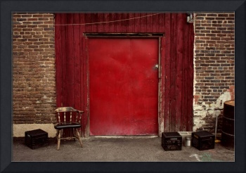 Red Door and Chair