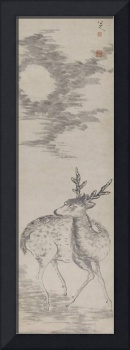 Zhu Da (Bada Shanren) 1626-1705 DEER IN THE MOON N