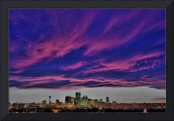 Chinook Sunset Over Calgary