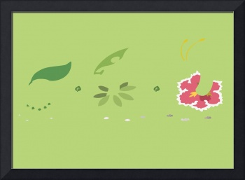 Minimalist Johto Region Grass Starter Evolution