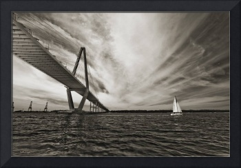 Cooper River Bridge and Sailboat