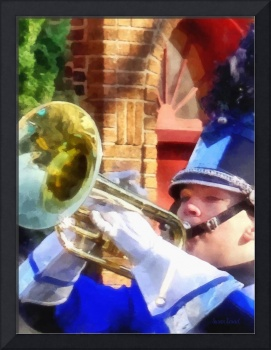 Trumpet Player in Marching Band