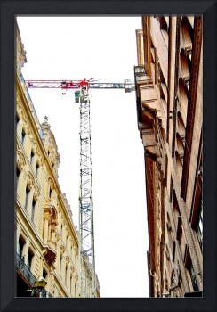 craning over the city