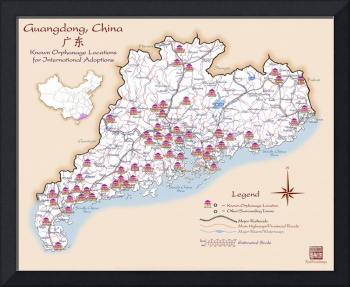 Guangdong China Orphanage Location Map v1.6
