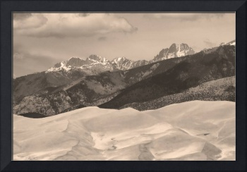 The Great Sand Dunes Sepia Print 45